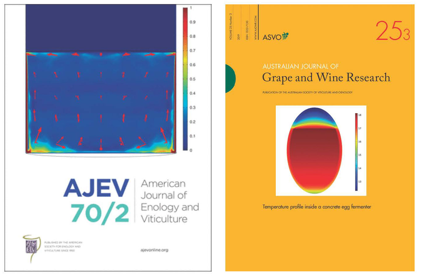 journal covers with Dr. Block's research focused