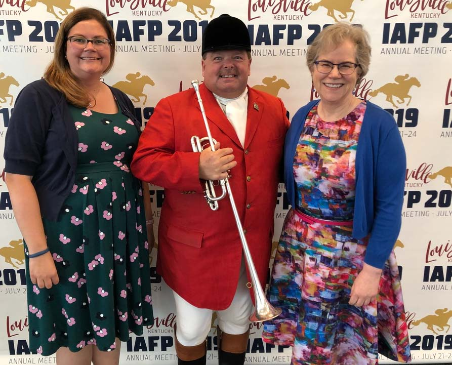 Dr. Danyluk and Dr. Harris with the official bugler for the Kentucky Derby, Steve Buttleman.