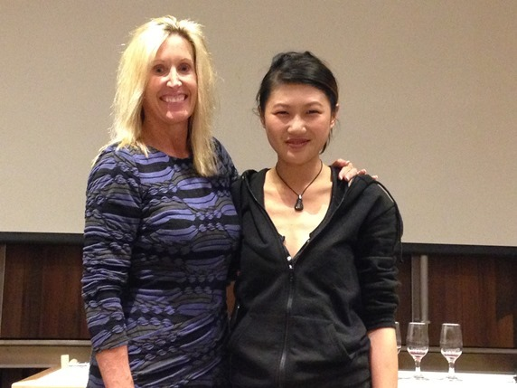 Dr. Clare Hasler with Diane Wu