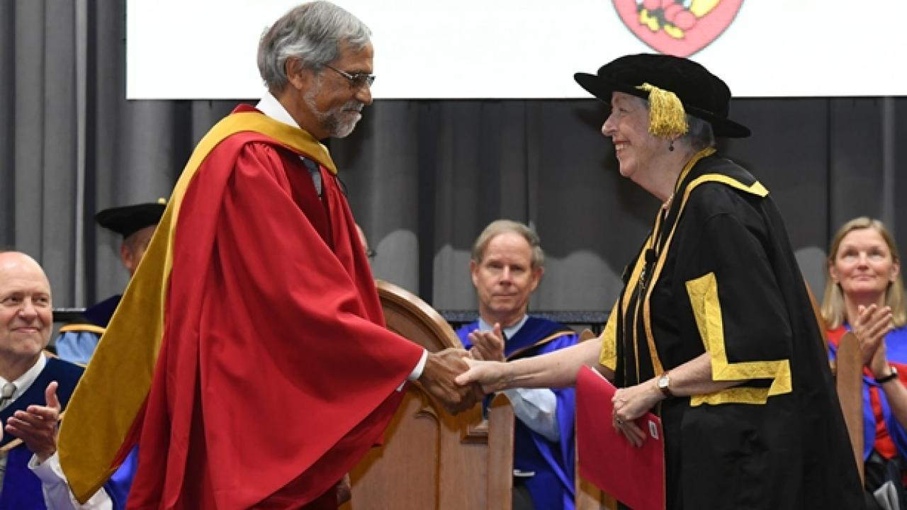 Dr. Singh receives his degree