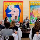 The art of Sam Gittings, on display at the Robert Mondavi Winery, formed the backdrop for the annual meeting of the Oakville Winegrowers.