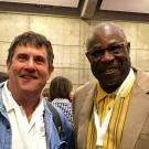 Chik with Dusty Baker