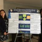 Betty Feng and Christine Bruhn with winning poster