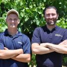 Vineyard manager Nathan Kane and enologist Spencer Falor-Ward.