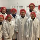Students suited up for a tour of the facilities