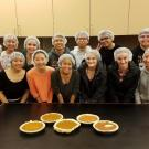 students and pie